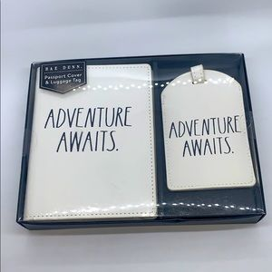 NWT Rae Dunn Adventure Awaits Passport Book